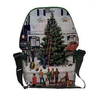 Tree in Town Square Commuter Bags