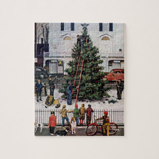 Tree in Town Square Jigsaw Puzzle