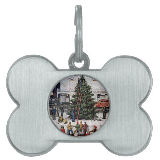 Tree in Town Square Pet ID Tag
