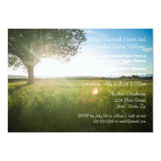 Tree Landscape Photo - Wedding Announcement