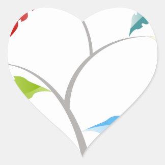 Tree Leaf Options Chart Financial Image Heart Sticker