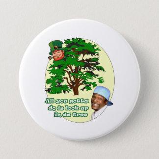 Tree Leprechaun 7.5 Cm Round Badge