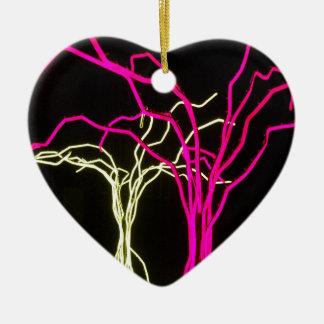 Tree Lights Ceramic Heart Decoration