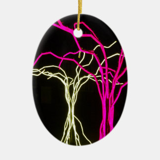 Tree Lights Ceramic Oval Decoration