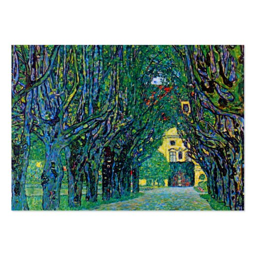 Tree lined avenue painting art by Gustav Klimt Business Card Template