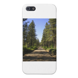 Tree lined dirt road iPhone 5 cases