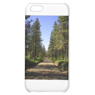 Tree lined dirt road iPhone 5C covers