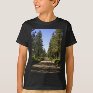 Tree lined dirt road shirts