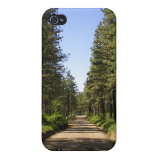 """Tree lined road """"follow the dream"""" iPhone 4 case"""