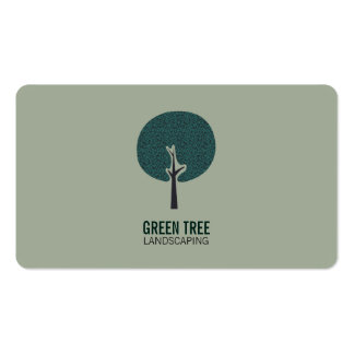 Tree Logo (natural green) Pack Of Standard Business Cards
