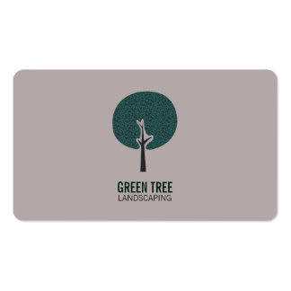 Tree Logo (natural light brown) Pack Of Standard Business Cards