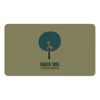 Tree Logo (olive green) Pack Of Standard Business Cards