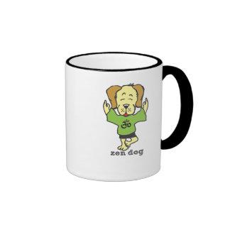 Tree & Lotus Pose- Zen Dog Ringer Mug