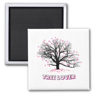 Tree Lover Square Magnet