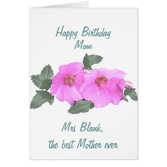 Tree mallow Birthday card MOM customise
