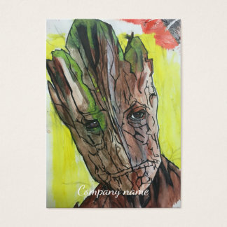 Tree Man Artistic Painting Business Card