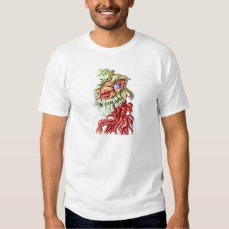 Tree Man Plant Leaves Roots Cartoon T-shirts