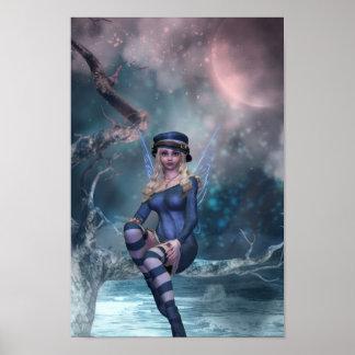 Tree Moon Fairy Poster