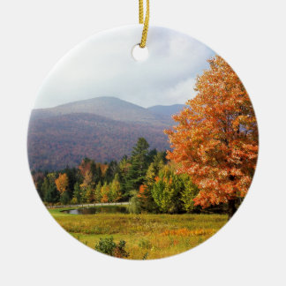 Tree Mount Mansfield Vermont Round Ceramic Decoration