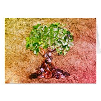 Tree nature art card