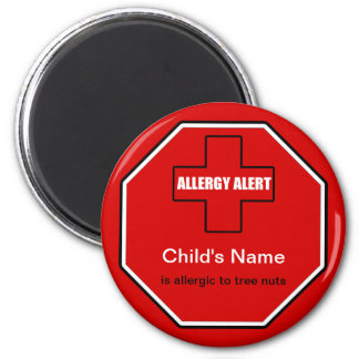 Tree Nuts Allergy Medical Allergic Alert Magnet