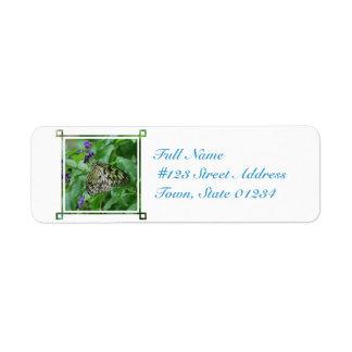 Tree Nymph Butterfly Return Address Label