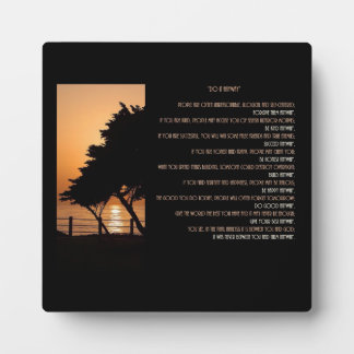 "Tree & Ocean Sunset ""Do It  Anyway"" Plaque"