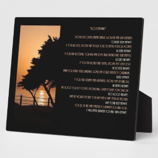 "Tree & Ocean Sunset ""Do It  Anyway"" Plaque"