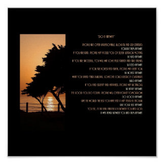 Tree & Ocean Sunset Do It Anyway Poster