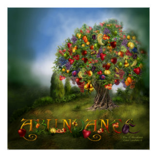 Tree Of Abundance Art Poster/Print Poster