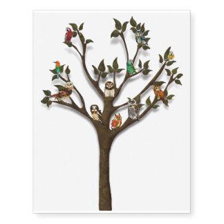 TREE OF FEATHERS Temporary Tatoo