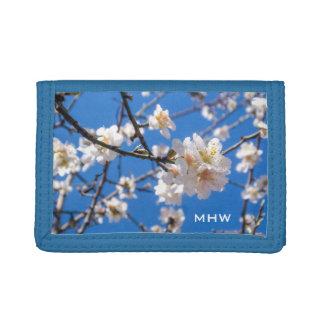 Tree of Flowers custom monogram wallets
