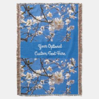 Tree of Flowers custom throw blanket