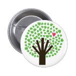 Tree of Hearts 6 Cm Round Badge