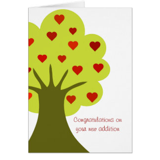 Tree of Hearts Card