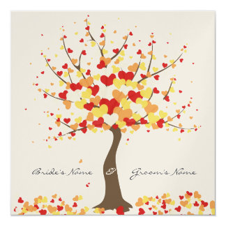 Tree Of Hearts - Fall/Winter Wedding Invitation