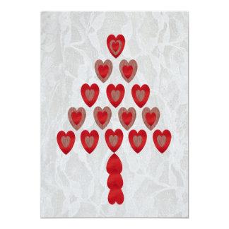 """Tree of Hearts 5"""" X 7"""" Invitation Card"""