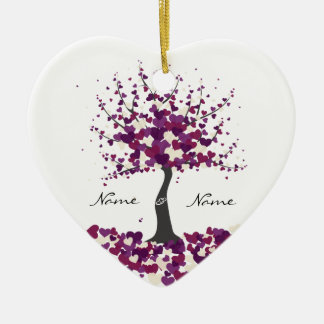 Tree of Hearts - Purple Wedding Ornament