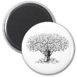 Tree of Life - animals 6 Cm Round Magnet