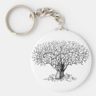 Tree of Life - animals Key Ring