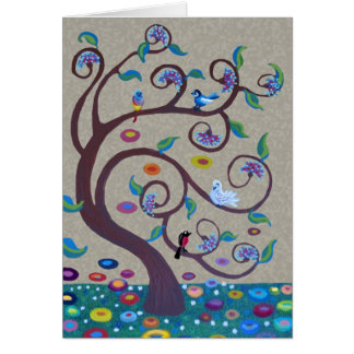 Tree of life - art nouveau style greeting card