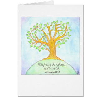 Tree of Life Bat/Bar Mitzvah Card