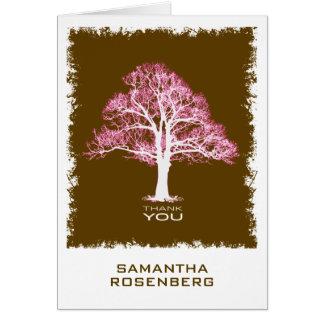 Tree of Life Bat Mitzvah Thank You Card, Chocolate Card