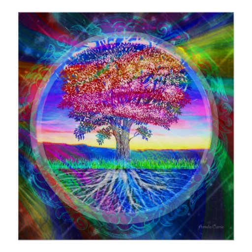 Tree of Life Blessings Poster