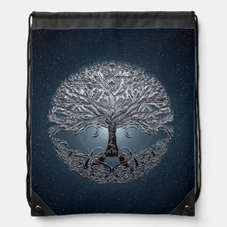 Tree of Life Blue Sky Peaceful Night Drawstring Bag