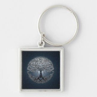 Tree of Life Blue Sky Peaceful Night Key Ring
