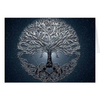 Tree of Life Blue Sky Peaceful Night Note Card