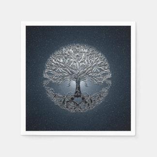 Tree of Life Blue Sky Peaceful Night Paper Napkins