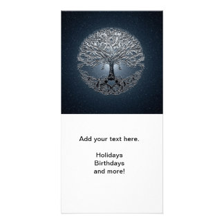 Tree of Life Blue Sky Peaceful Night Photo Card Template