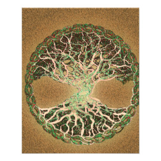 Tree of Life Brown 11.5 Cm X 14 Cm Flyer
